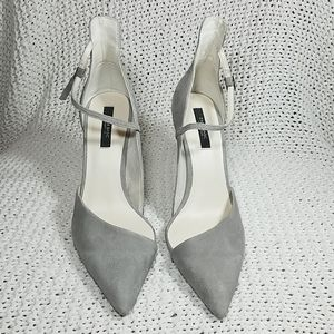 Zara Basic Collection Taupe Ankle Strap  Heels